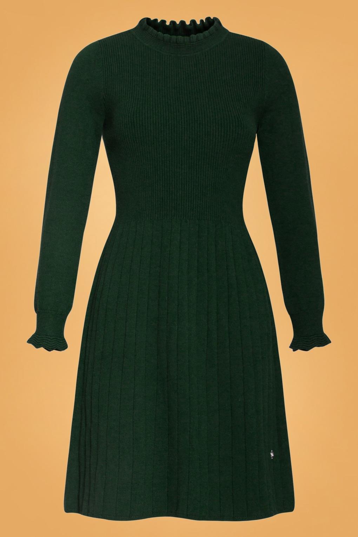 500 Vintage Style Dresses for Sale | Vintage Inspired Dresses 60s Kyala Knitted Dress in Forest Green £82.65 AT vintagedancer.com