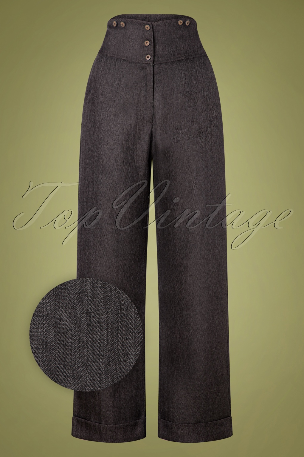 1950s Pants & Jeans- High Waist, Wide Leg, Capri, Pedal Pushers 50s Sassy Trousers in Grey £37.84 AT vintagedancer.com