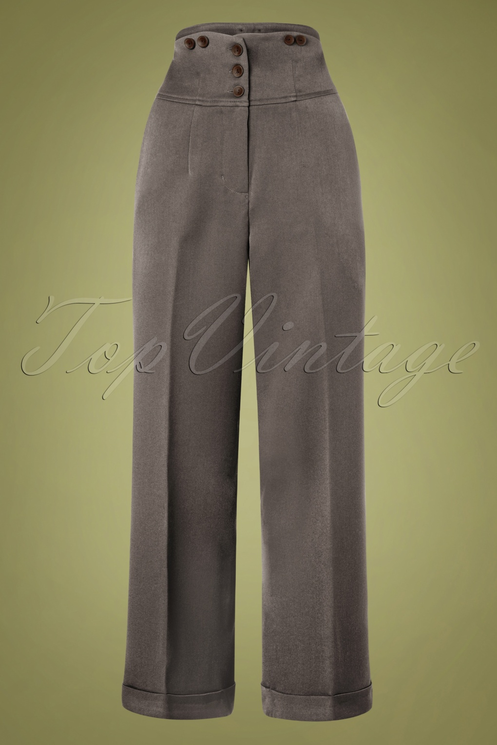80s Jeans, Pants, Leggings 50s Girl Boss Trousers in Grey £45.61 AT vintagedancer.com
