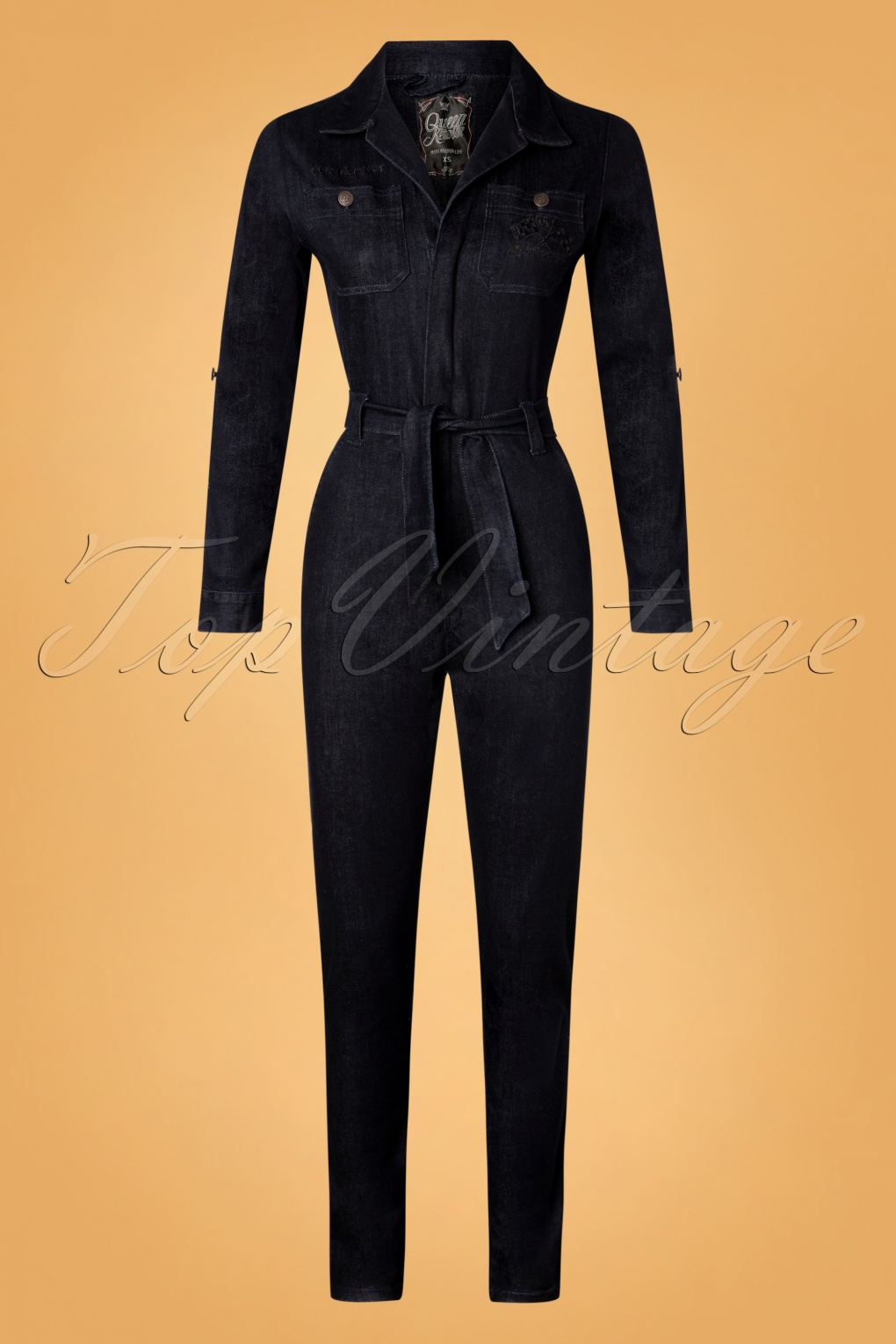 Vintage Overalls 1910s -1950s History & Shop Overalls 50s Workwear Overall in Dark Denim Blue £98.45 AT vintagedancer.com