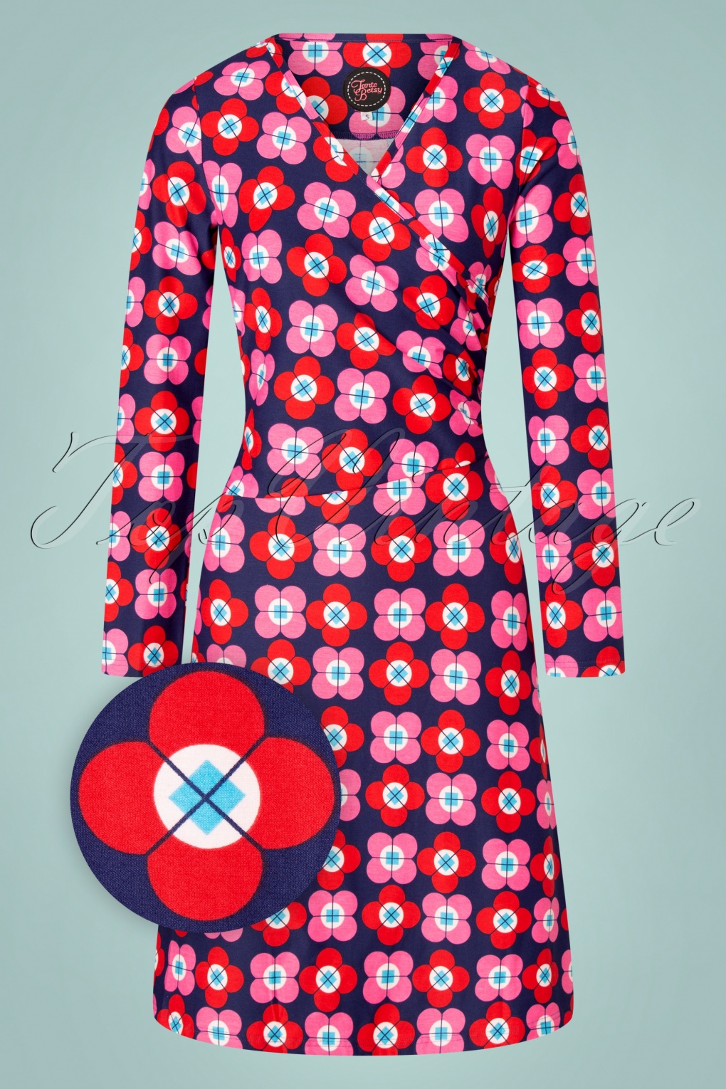 Shop Queen's Gambit Outfits – 60s Clothes 60s Tango Petal Dress in Navy £82.52 AT vintagedancer.com