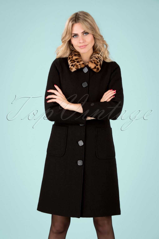 1960s Style Dresses, Clothing, Shoes UK 60s Nathalie Kennedy Coat in Black £164.06 AT vintagedancer.com