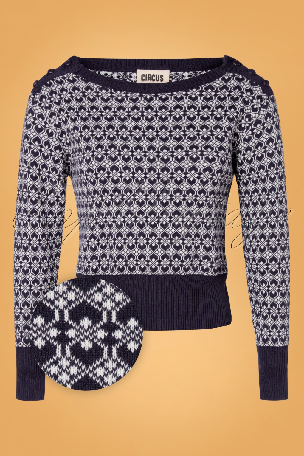 1940s Teenage Fashion: Girls 40s Duffle Sweater in Navy £63.10 AT vintagedancer.com