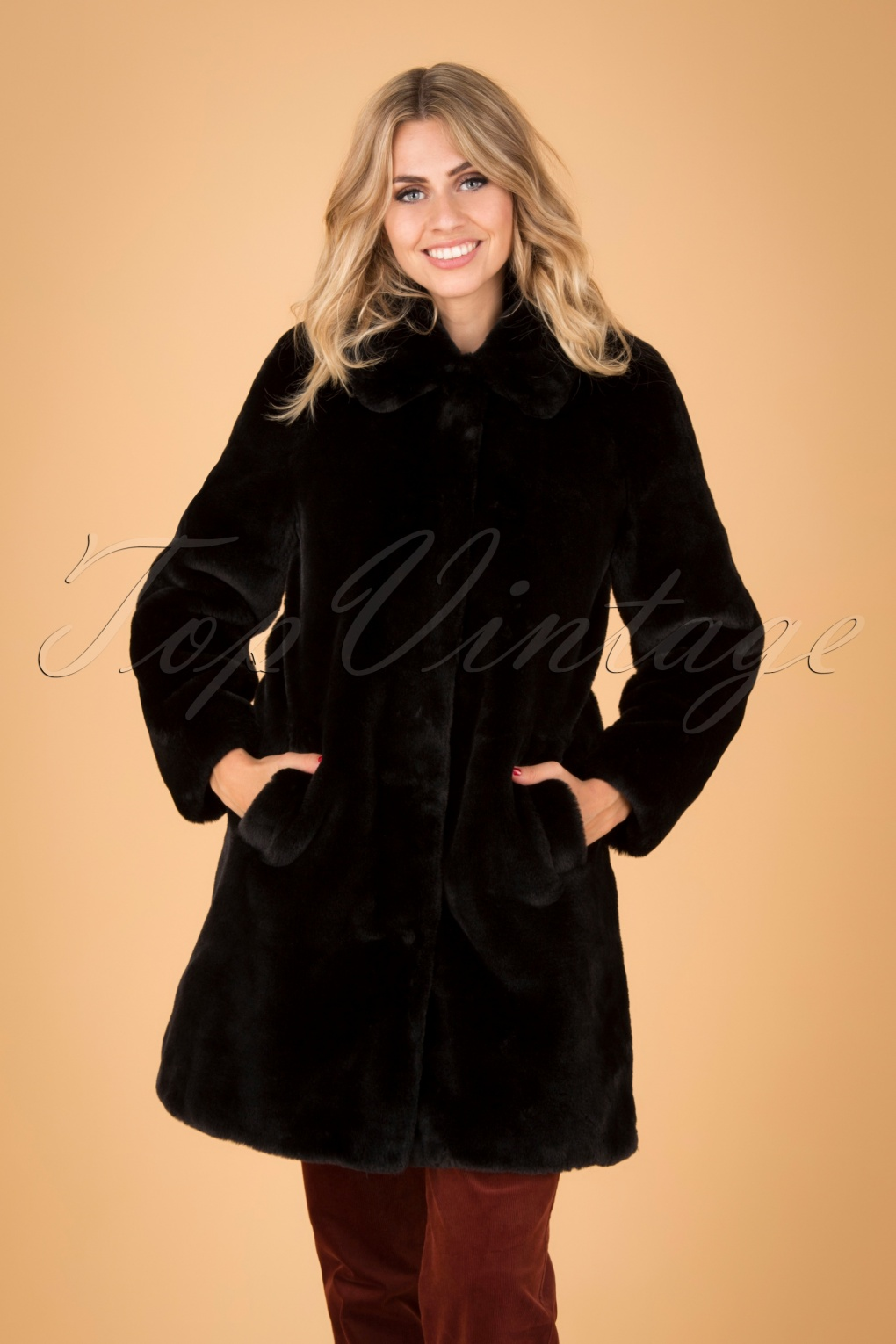 1960s Style Dresses, Clothing, Shoes UK 60s Betty Philly Coat in Black £127.59 AT vintagedancer.com