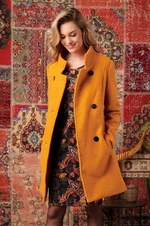 1960s Style Dresses, Clothing, Shoes UK 60s Emmy Coat in Mustard £127.59 AT vintagedancer.com