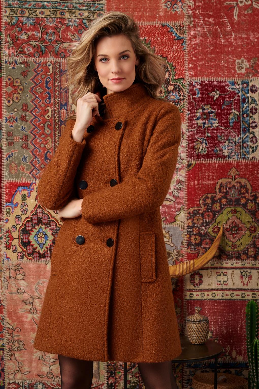 Vintage Coats & Jackets | Retro Coats and Jackets 60s Emmy Coat in Cognac £125.08 AT vintagedancer.com