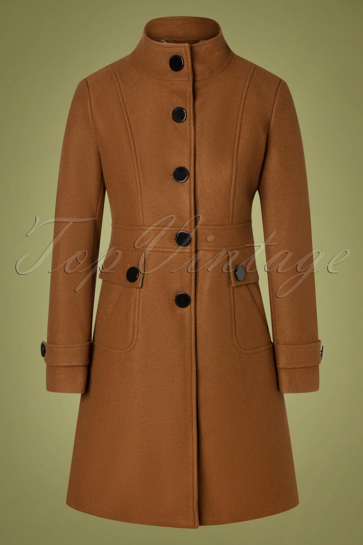 Vintage Coats & Jackets | Retro Coats and Jackets 60s Alyssa Coat in Brown £127.59 AT vintagedancer.com