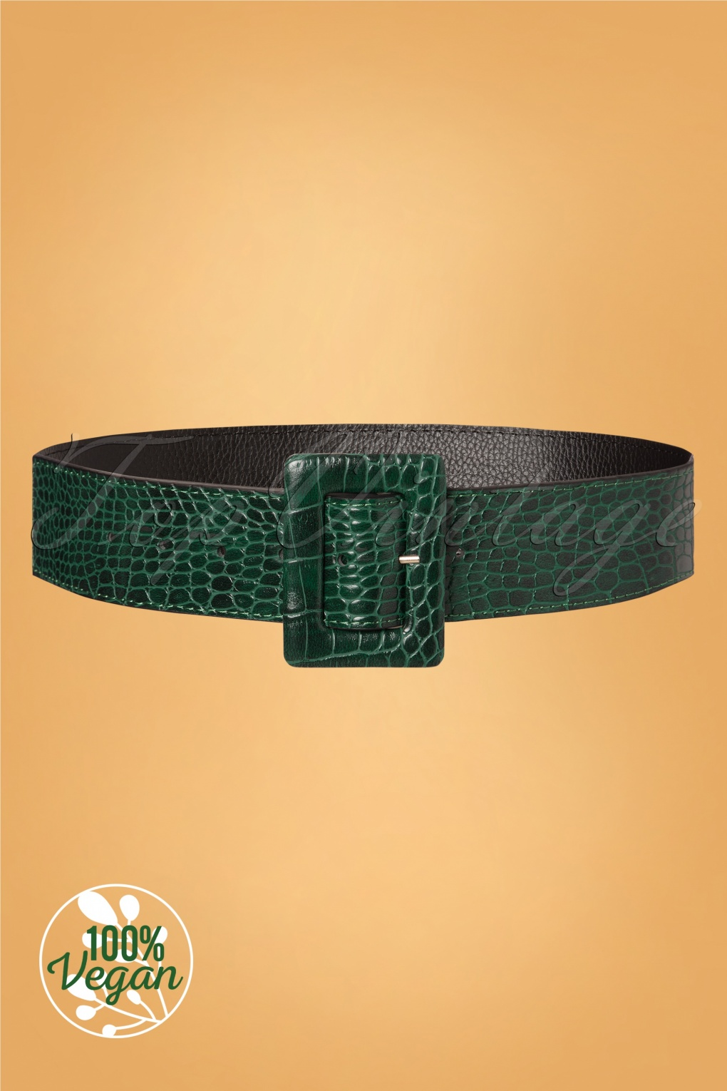 A History of Belts 1920-1960 60s A Big Hug Belt in Green £18.90 AT vintagedancer.com