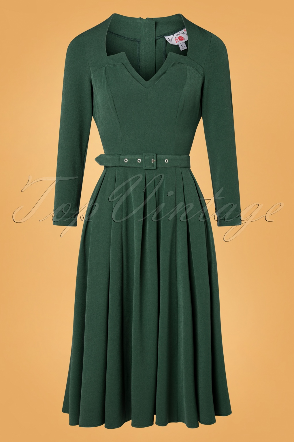 Plus Size Swing Dresses, Vintage Dresses TopVintage exclusive  50s Penny-Lee Swing Dress in Emerald £100.39 AT vintagedancer.com