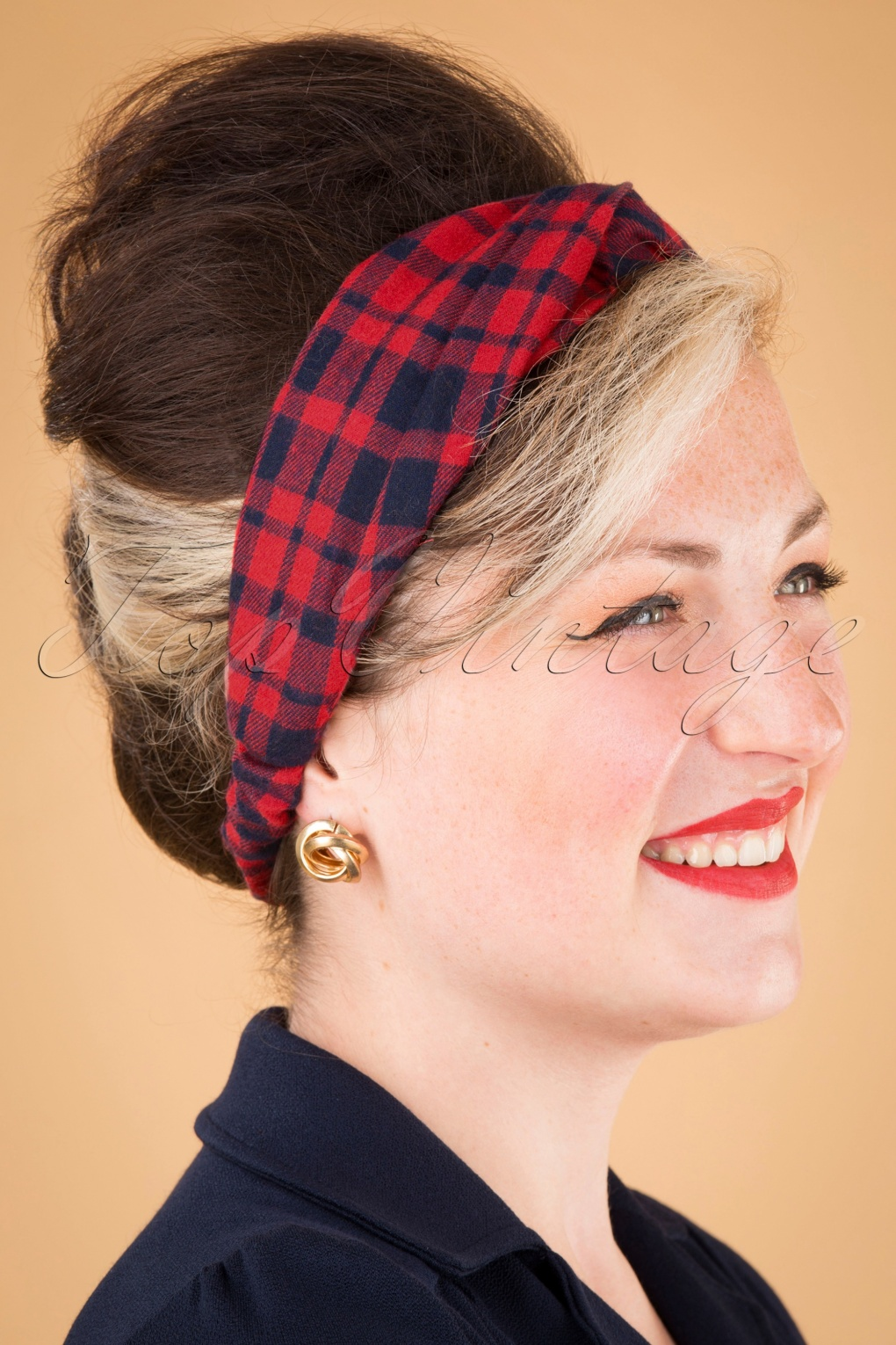 1950s Women's Hat Styles & History 50s Jeannie Headband in Red and Navy £6.03 AT vintagedancer.com