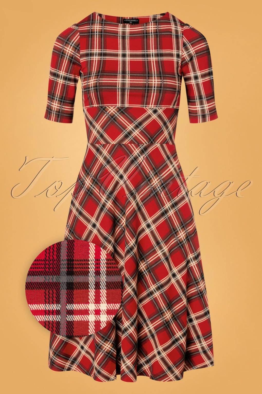 1950s Dresses, 50s Dresses | 1950s Style Dresses 50s British Day Dress in Red £82.00 AT vintagedancer.com