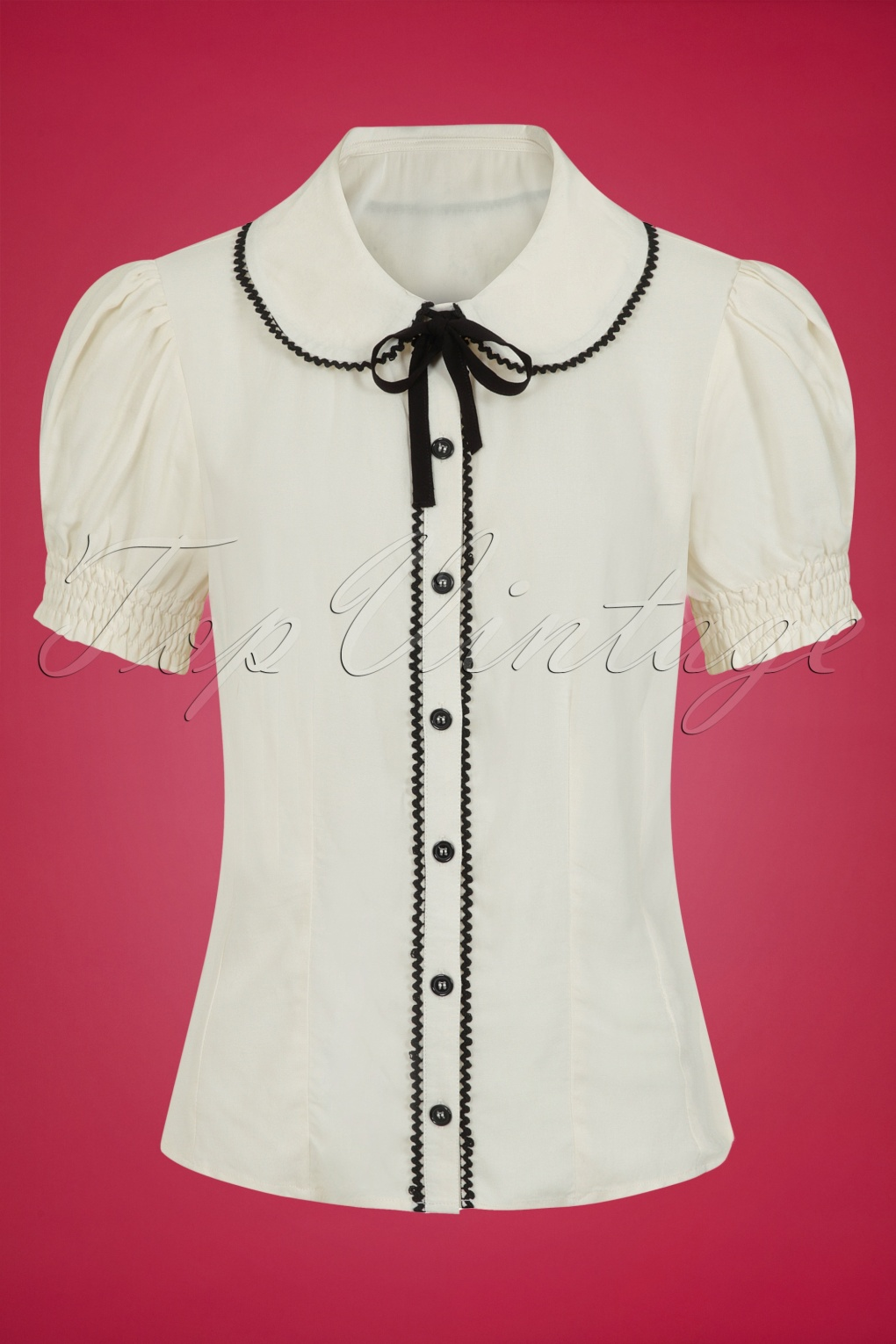 1960s Style Clothing & 60s Fashion 50s Calliste Blouse in Cream £40.56 AT vintagedancer.com