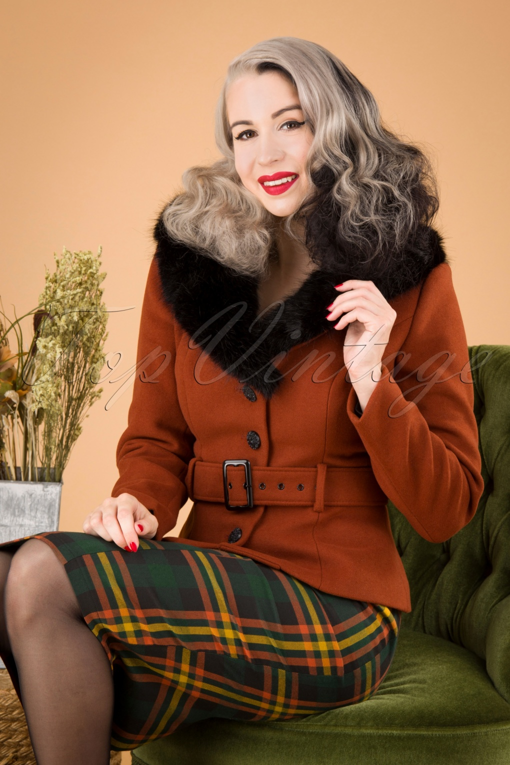 1940s Style Coats and Jackets for Sale 40s Molly Jacket in Rusty Orange £104.32 AT vintagedancer.com