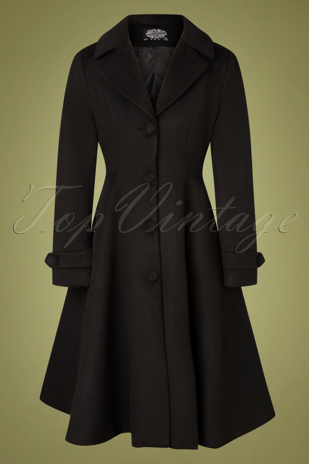 1950s Jackets, Coats, Bolero | Swing, Pin Up, Rockabilly 50s Pheobe Swing Coat in Black £68.15 AT vintagedancer.com