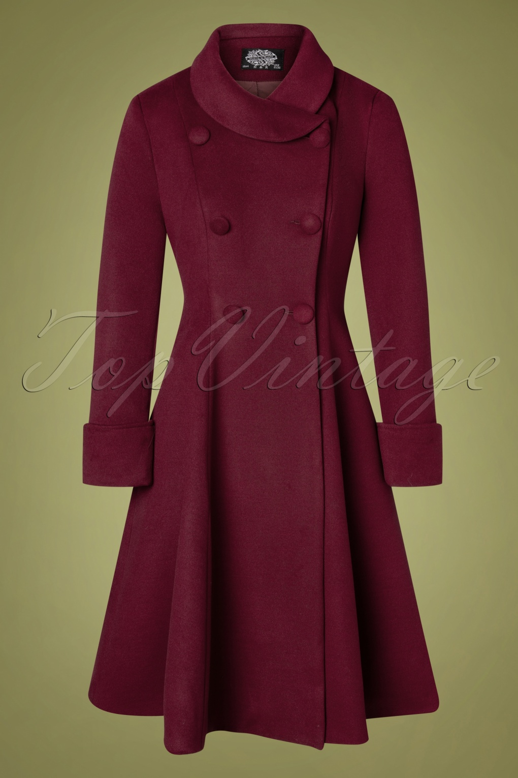 1950s Jackets, Coats, Bolero | Swing, Pin Up, Rockabilly 50s Grace Swing Coat in Burgundy £68.15 AT vintagedancer.com