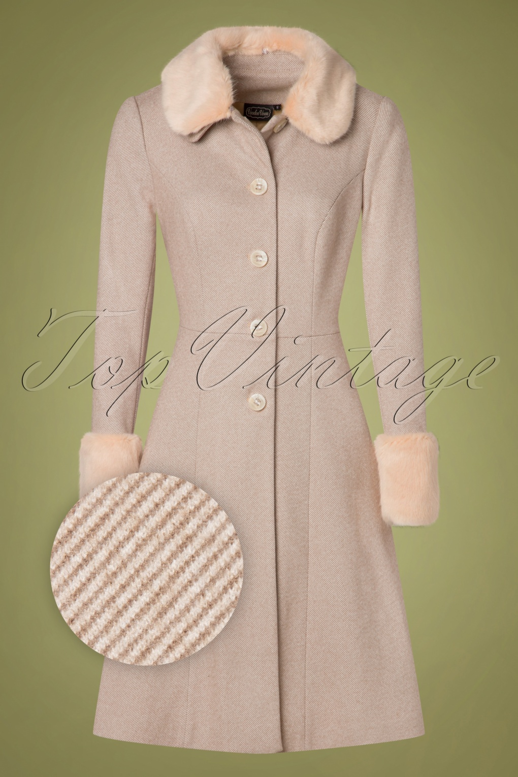 1950s Jackets, Coats, Bolero | Swing, Pin Up, Rockabilly 50s Louisa May Coat in Sand £113.60 AT vintagedancer.com