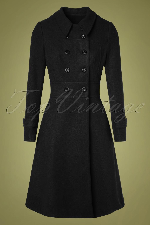 1940s Dresses and Clothing UK   40s Shoes UK 40s Grace Coat in Black £122.42 AT vintagedancer.com