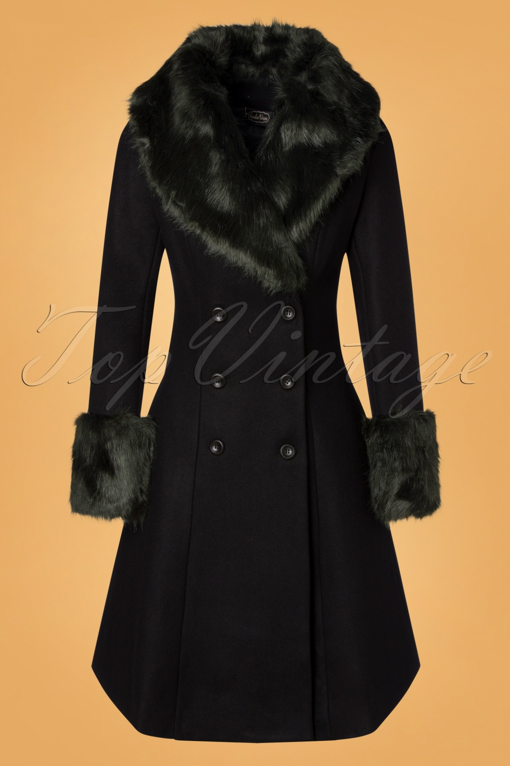 1950s Jackets, Coats, Bolero | Swing, Pin Up, Rockabilly 50s Sylvie Coat in Black £124.97 AT vintagedancer.com