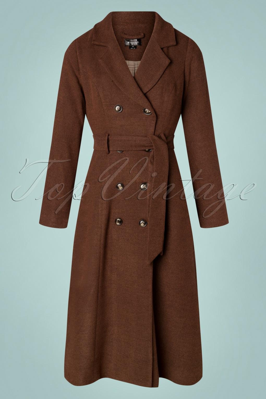 70s Jackets, Furs, Vests, Ponchos 70s Emberly Coat in Brown £168.84 AT vintagedancer.com