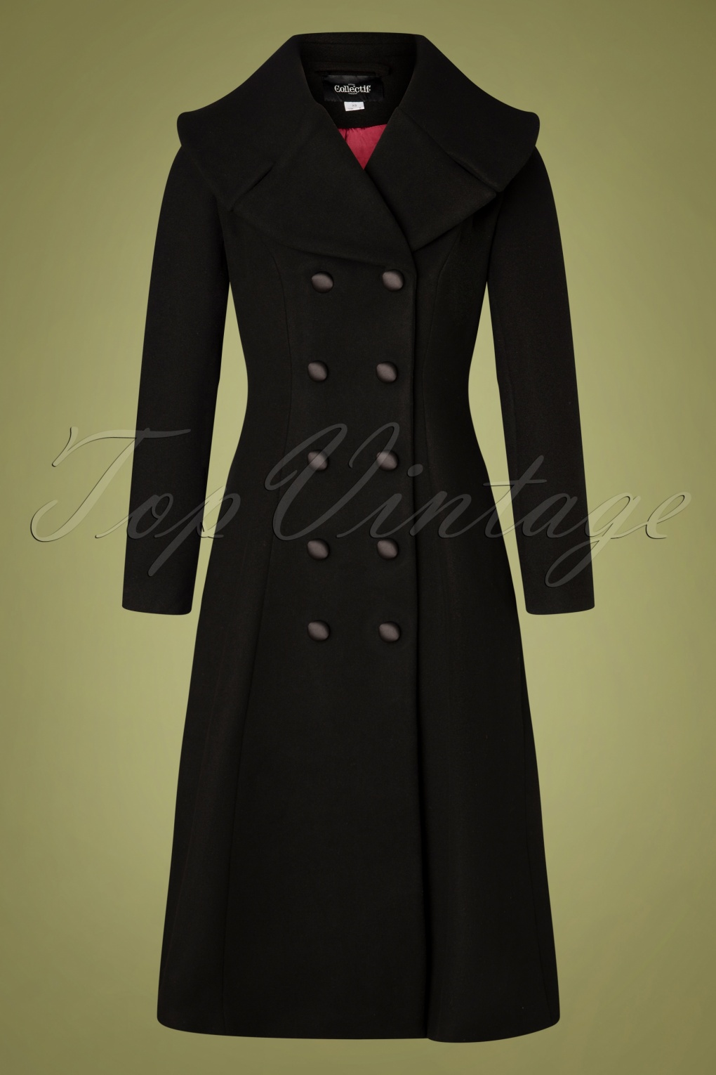 1950s Jackets, Coats, Bolero | Swing, Pin Up, Rockabilly 50s Eileean Coat in Black £160.18 AT vintagedancer.com