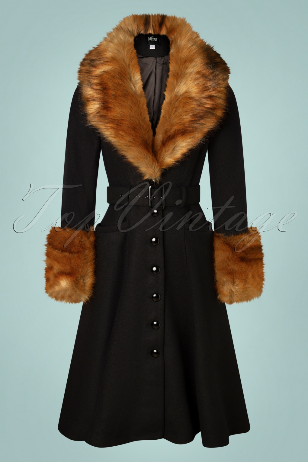 1930s Style Clothing and Fashion 40s Jackie Princess Coat in Black £186.88 AT vintagedancer.com