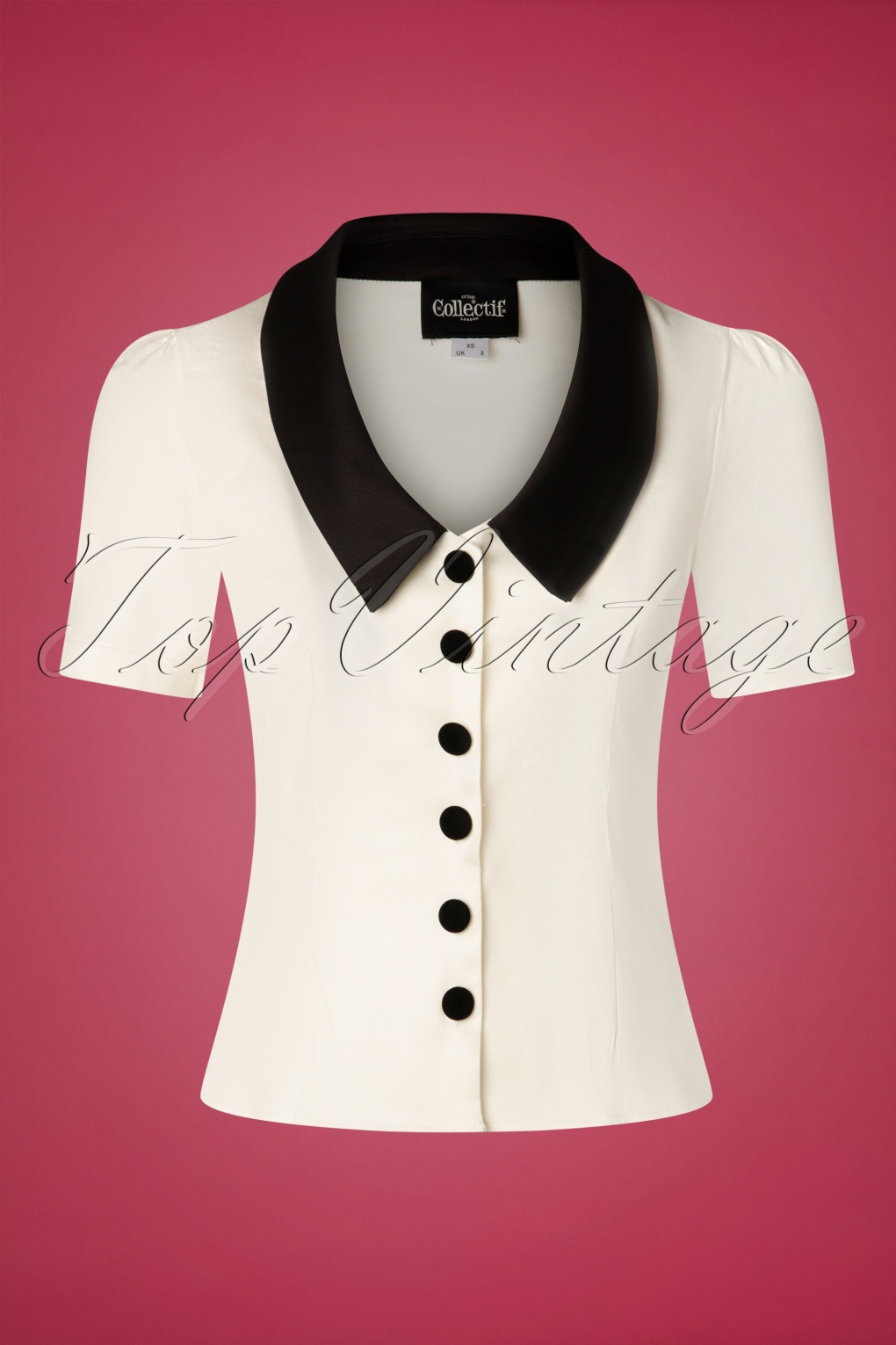 1940s Blouses and Tops 40s Varvara Blouse in Cream £40.27 AT vintagedancer.com