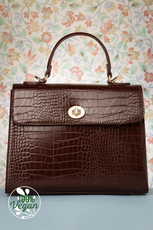 Vintage Handbags, Purses, Bags *New* 50s Versailles Handbag in Espresso £24.95 AT vintagedancer.com