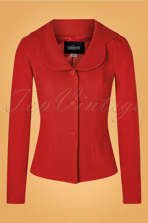 1950s Coats and Jackets History 50s Brooke Jacket in Red £24.95 AT vintagedancer.com