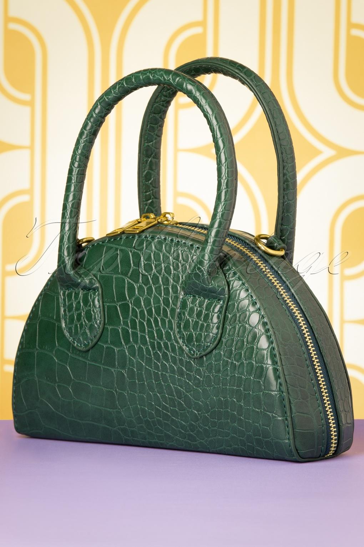 Vintage Handbags, Purses, Bags *New* 60s Oh My Croc Bag in Green £34.26 AT vintagedancer.com