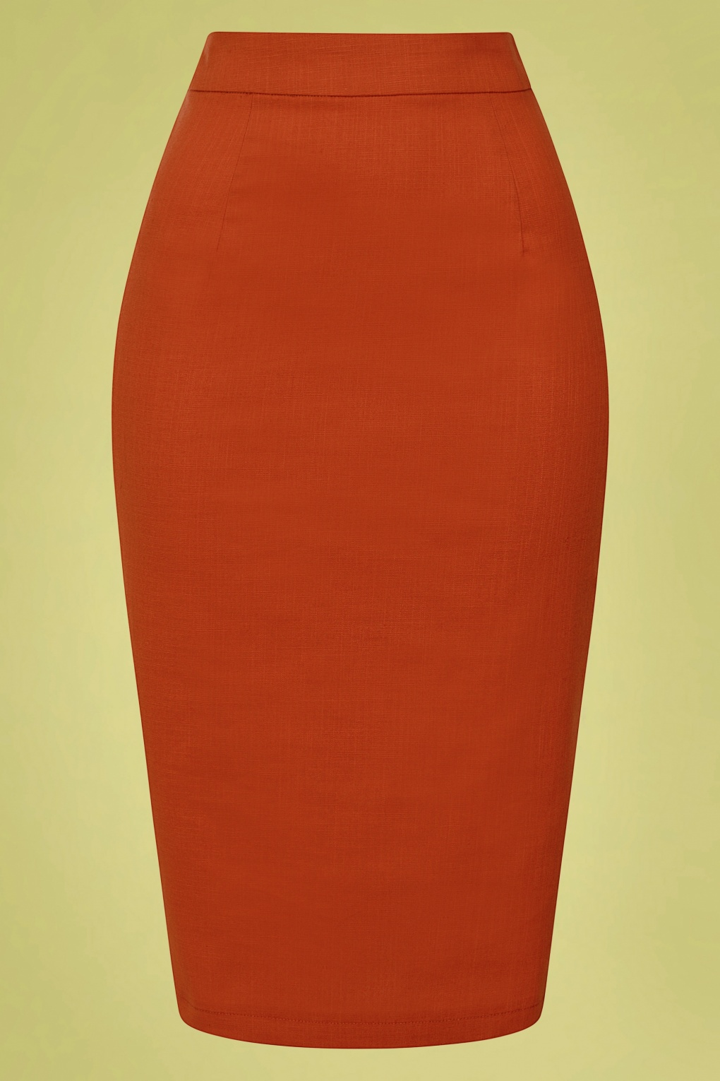 Retro Lingerie, Vintage Lingerie, 1940s-1970s 50s Polly Textured Cotton Pencil Skirt in Orange £31.14 AT vintagedancer.com