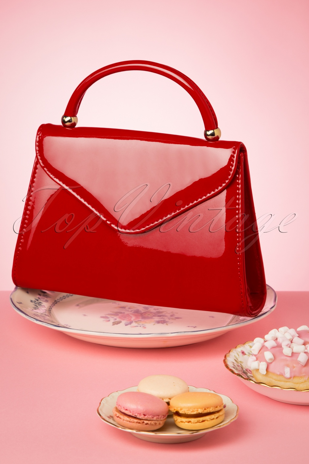 Vintage Handbags, Purses, Bags *New* 60s Lillian Lacquer Flap Bag in Poppy Red £24.01 AT vintagedancer.com