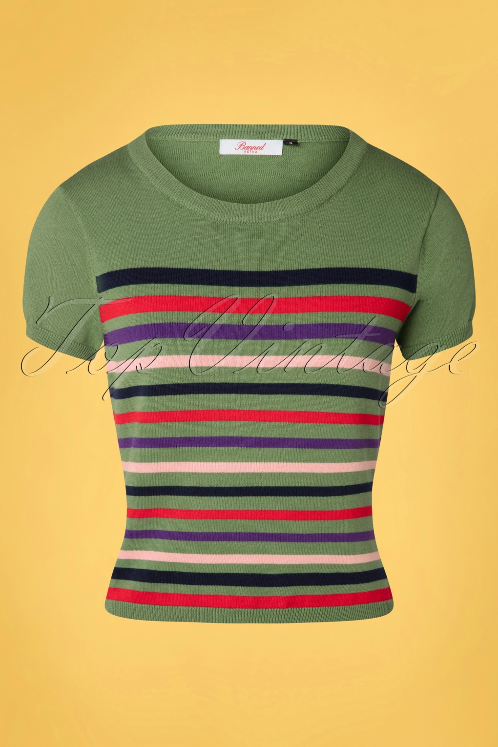 Shop Queen's Gambit Outfits – 60s Clothes 60s Memory Lane Stripes Top in Green £29.36 AT vintagedancer.com