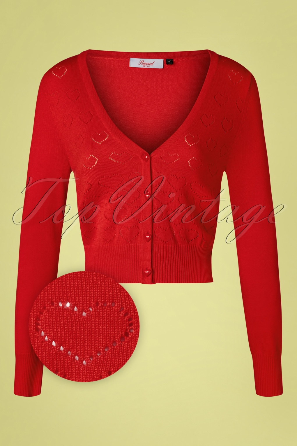 1950s Sweaters, 50s Cardigans, 50s Jumpers 50s Love Dream Cardigan in Lipstick Red £38.27 AT vintagedancer.com