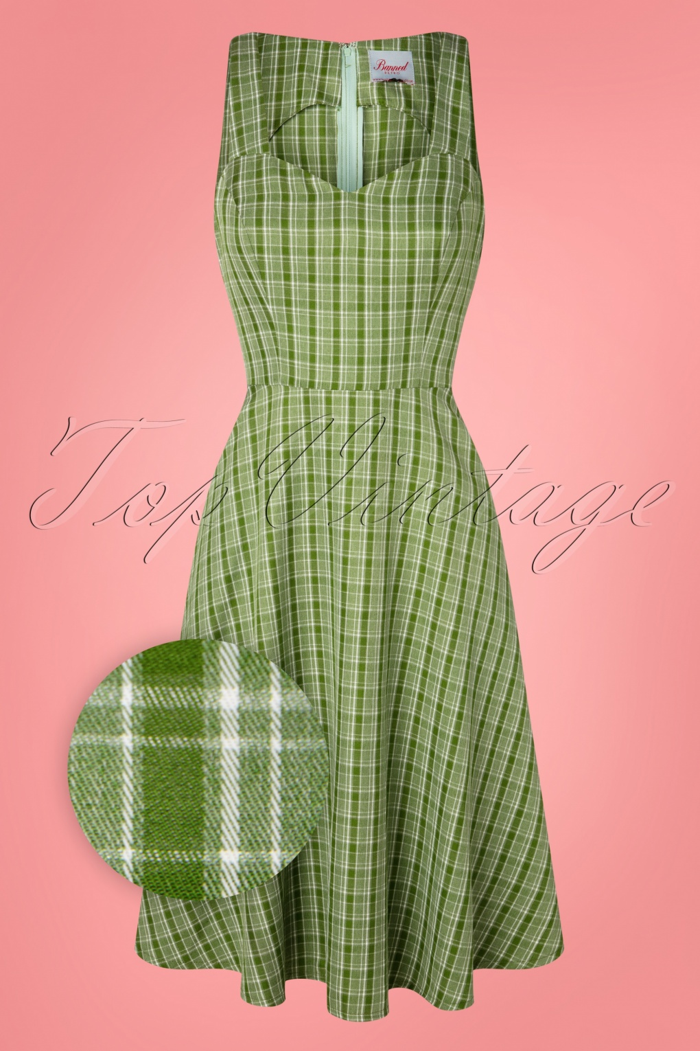 60s Dresses | 1960s Dresses Mod, Mini, Hippie 50s Lady Luck Swing Dress in Green £42.72 AT vintagedancer.com