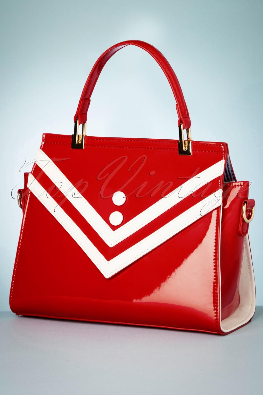 Vintage Handbags, Purses, Bags *New* 50s Serene Waters Patent Handbag in Red £24.95 AT vintagedancer.com