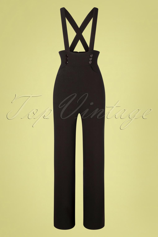 Vintage Overalls & Jumpsuits 50s Ronnie Dungarees in Black £64.36 AT vintagedancer.com