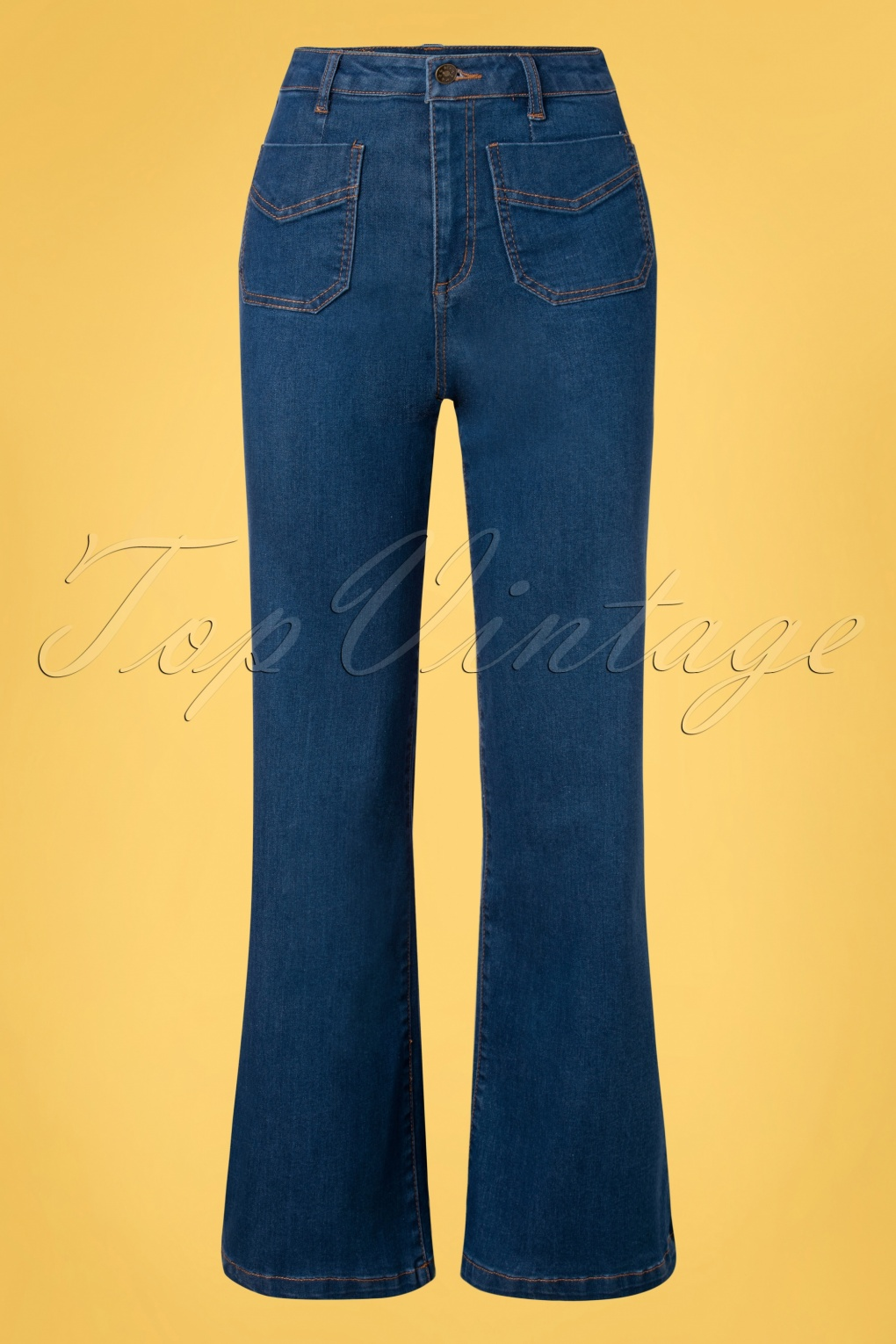 60s Pants, Jeans, Hippie, Flares, Jumpsuits 70s Wendy Wide Trousers in Blue £24.95 AT vintagedancer.com