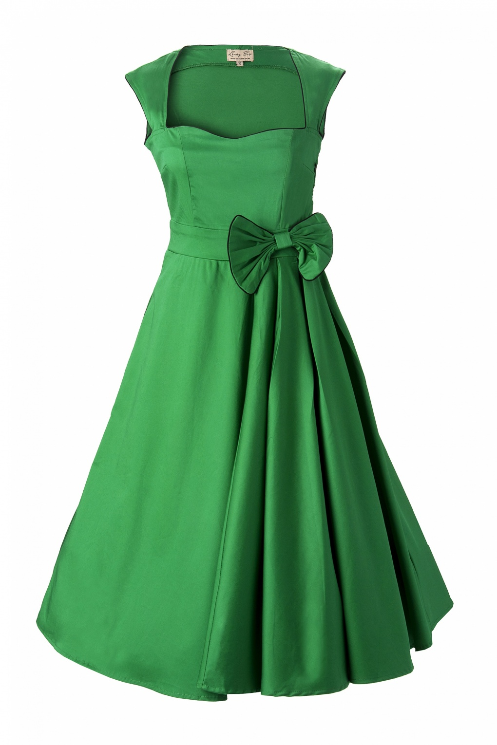 1950 S Grace Green Bow Vintage Style Swing Party Rockabilly