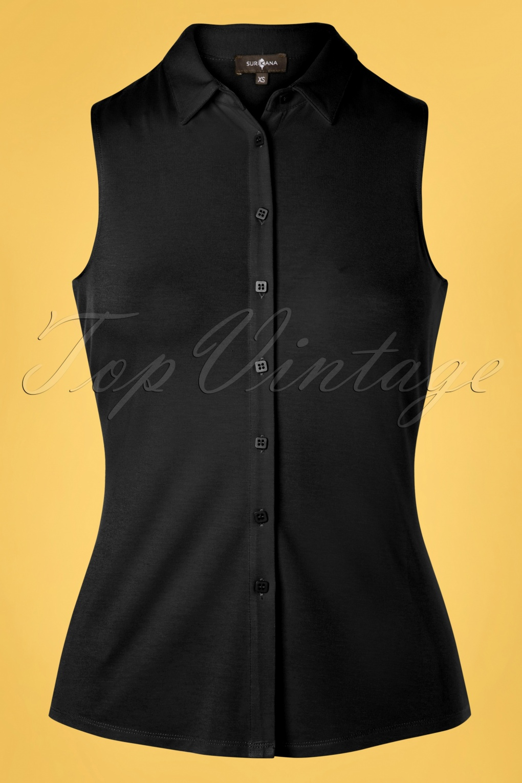 50s Shirts & Tops 60s Noa Shirt in Black  AT vintagedancer.com