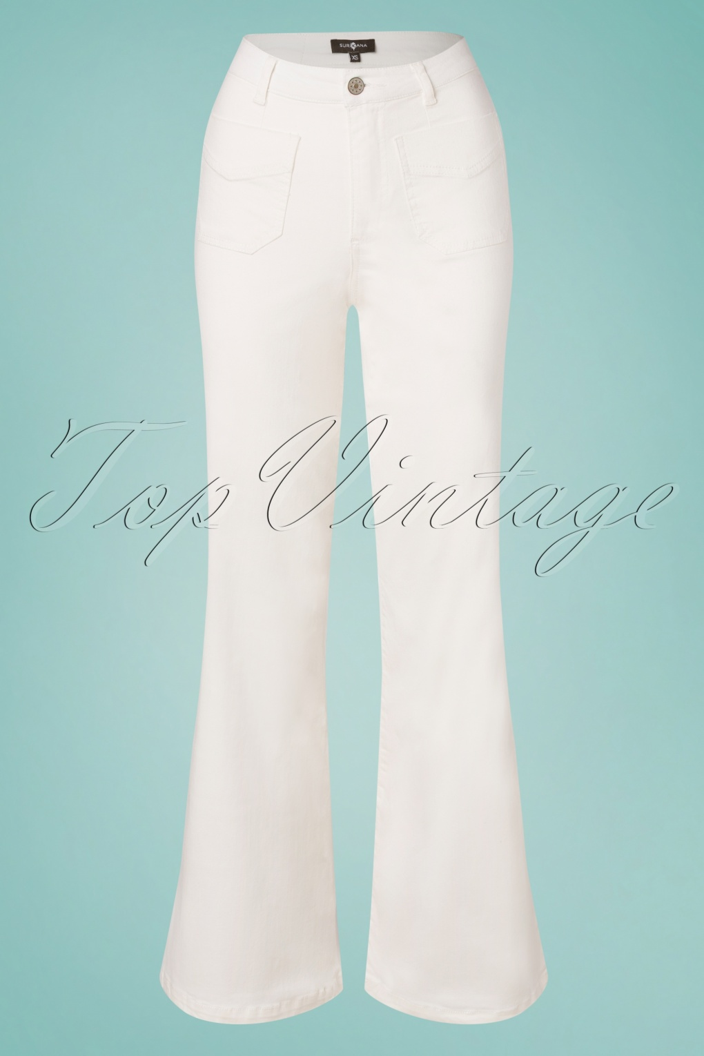 60s Pants, Jeans, Hippie, Flares, Jumpsuits 70s Wendy Wide Trousers in Ecru £24.95 AT vintagedancer.com