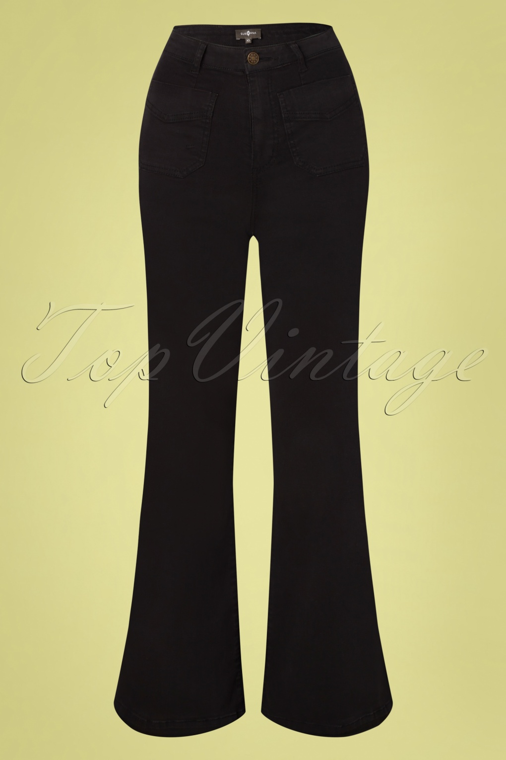 70s Clothes | Hippie Clothes & Outfits 70s Wendy Wide Trousers in Black £24.95 AT vintagedancer.com