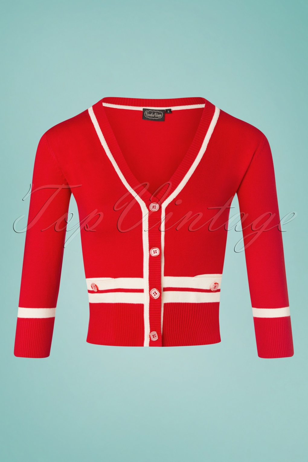 What Did Women Wear in the 1950s? 1950s Fashion Guide 50s Shammy Cropped Cardigan in Red  AT vintagedancer.com
