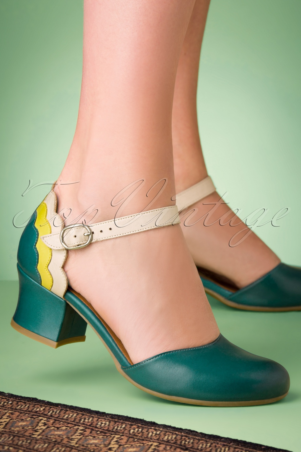 60s Fancy Dress and Quality Clothing 1960s UK 60s Flaunt Leather Pumps in Turquoise £19.95 AT vintagedancer.com