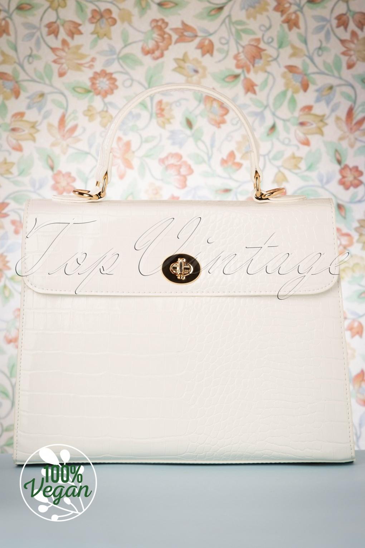 Vintage Handbags, Purses, Bags *New* 50s Versailles Handbag in Blanc £24.95 AT vintagedancer.com