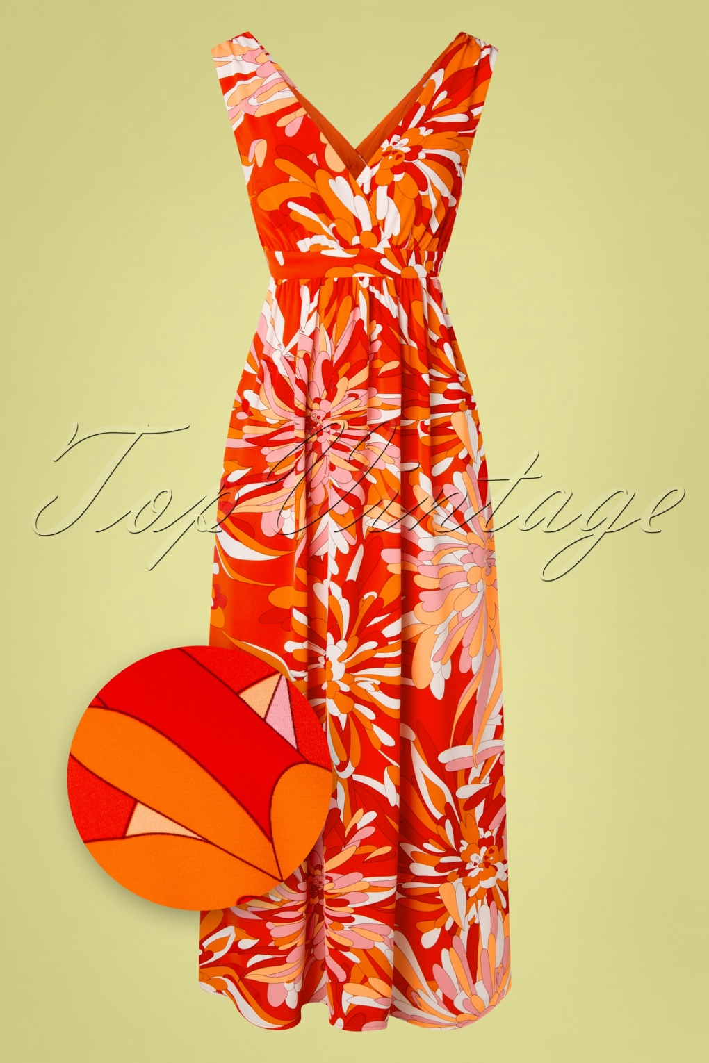 70s Clothes | Hippie Clothes & Outfits 70s Gods Smile Maxi Dress in Red £19.95 AT vintagedancer.com