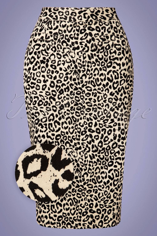 1950s Swing Skirt, Poodle Skirt, Pencil Skirts 50s Wild Child Pencil Skirt in Cream £24.95 AT vintagedancer.com