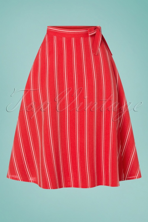 Rock Bubble skirt red cotton stripes dark red brown skirt striped cotton skirt