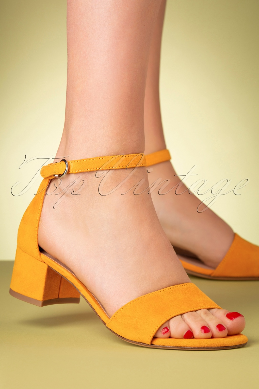 1960s Shoes: 8 Popular Shoe Styles 60s Suedine Sandals in Mango £24.95 AT vintagedancer.com