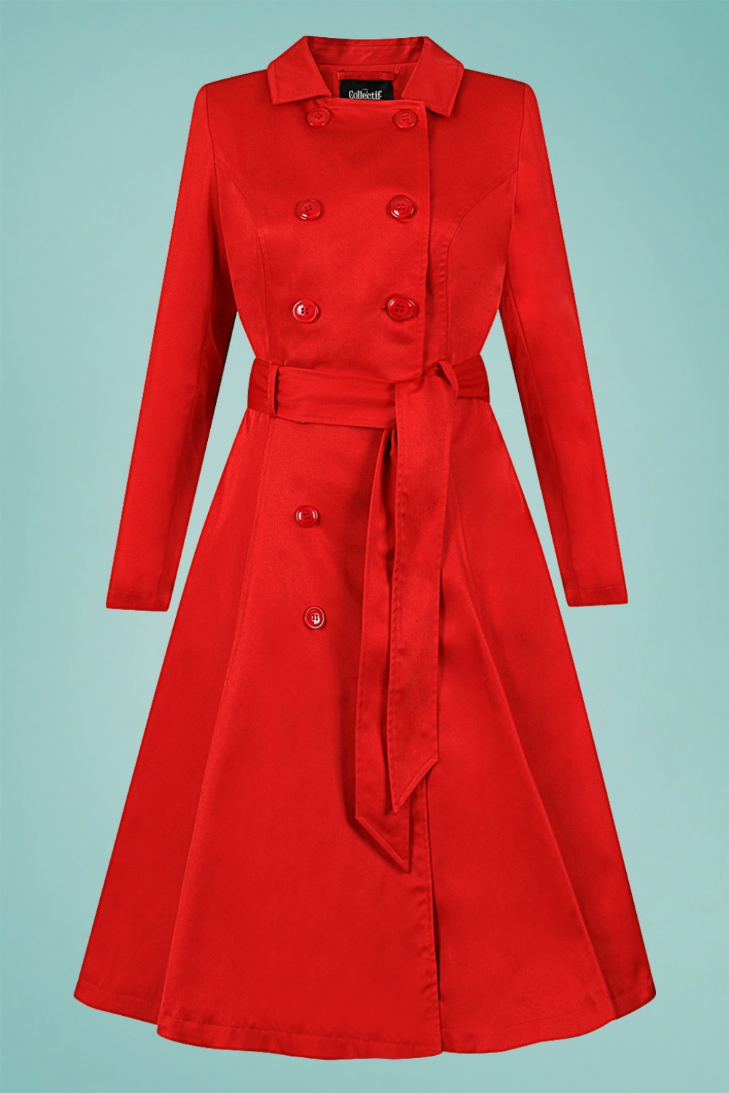 Vintage Coats & Jackets | Retro Coats and Jackets 40s Korrina Swing Trench Coat in Red £19.95 AT vintagedancer.com