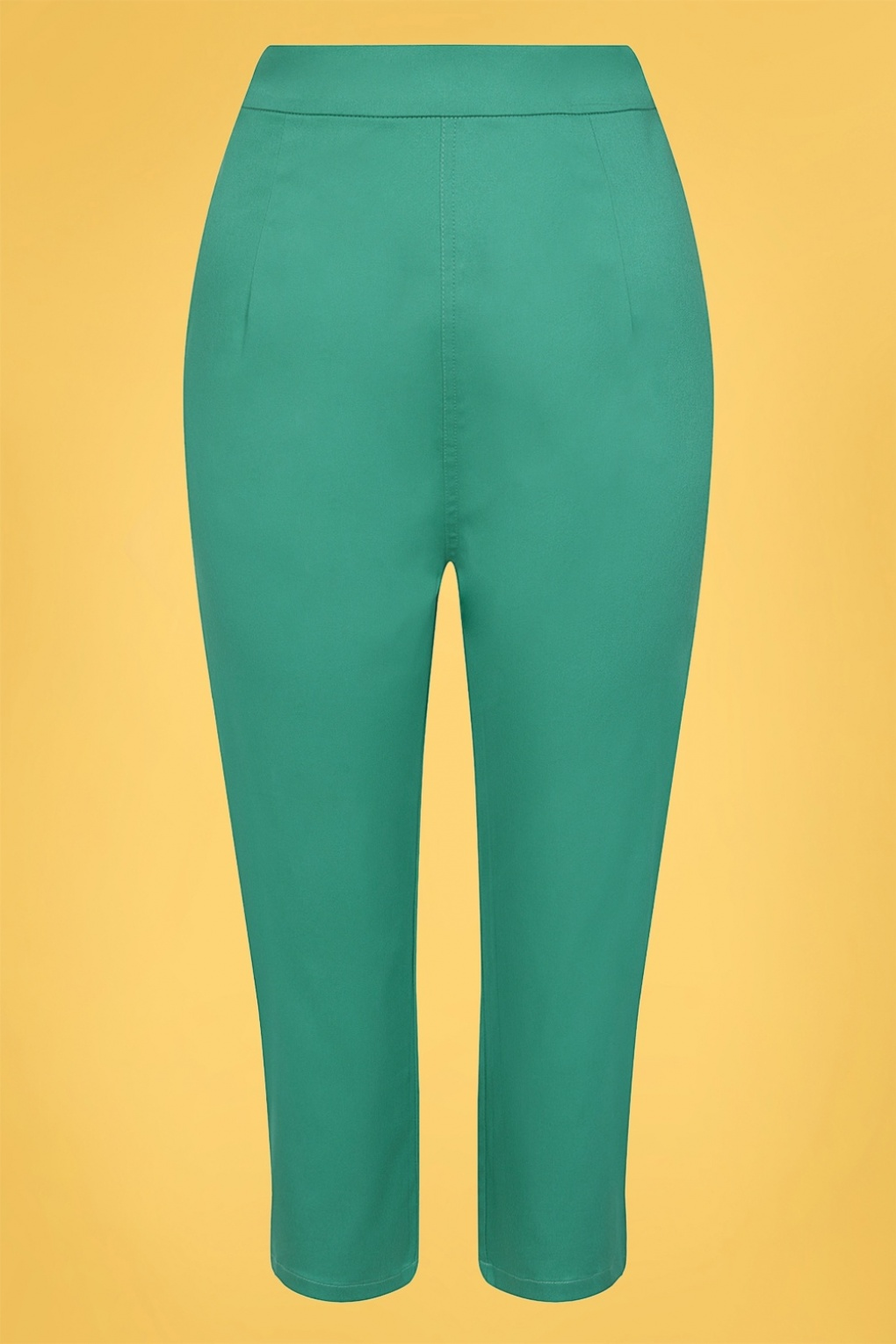 1960s Pants – Top 10 Styles for Women 50s Gracie Classic Cotton Capris in Teal  AT vintagedancer.com